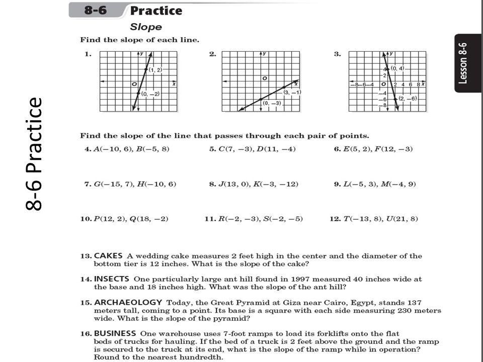 8-6 Practice