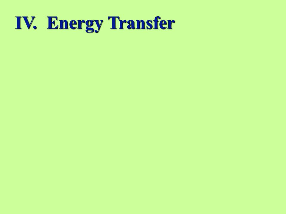 IV. Energy Transfer