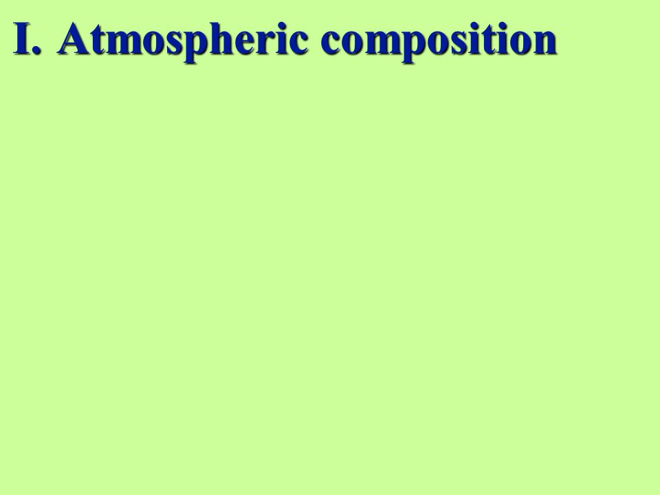 I.Atmospheric composition