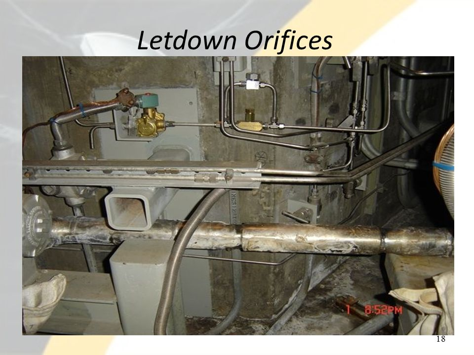Letdown Orifices 18