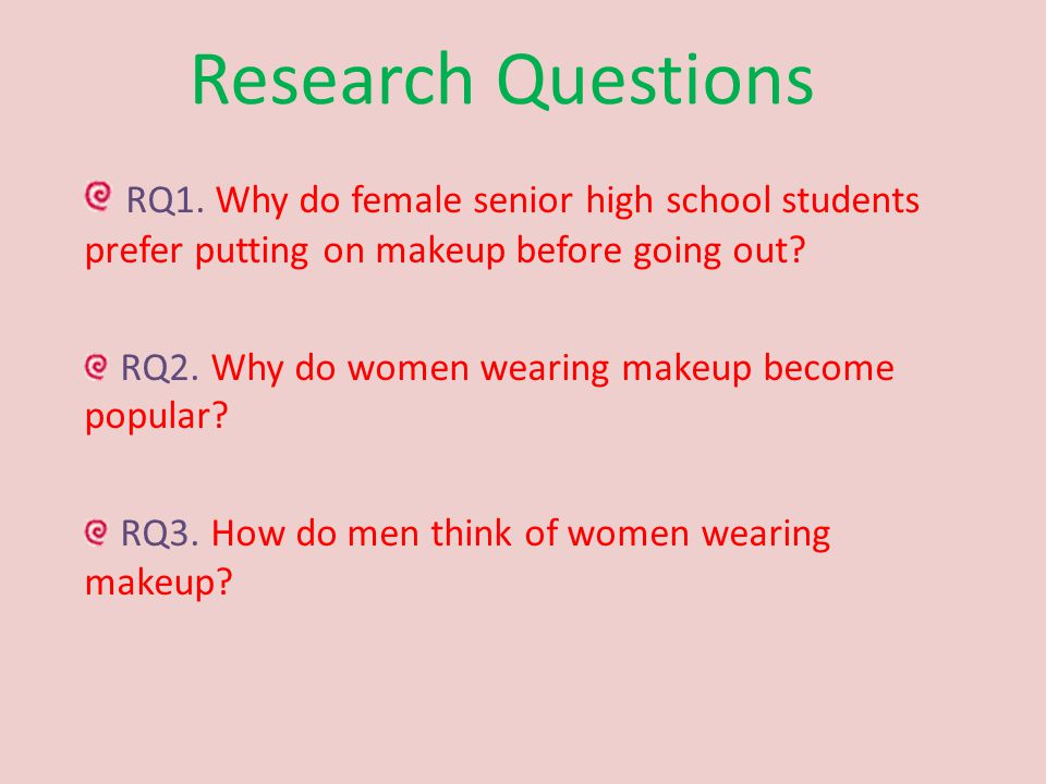 Research Questions RQ1.