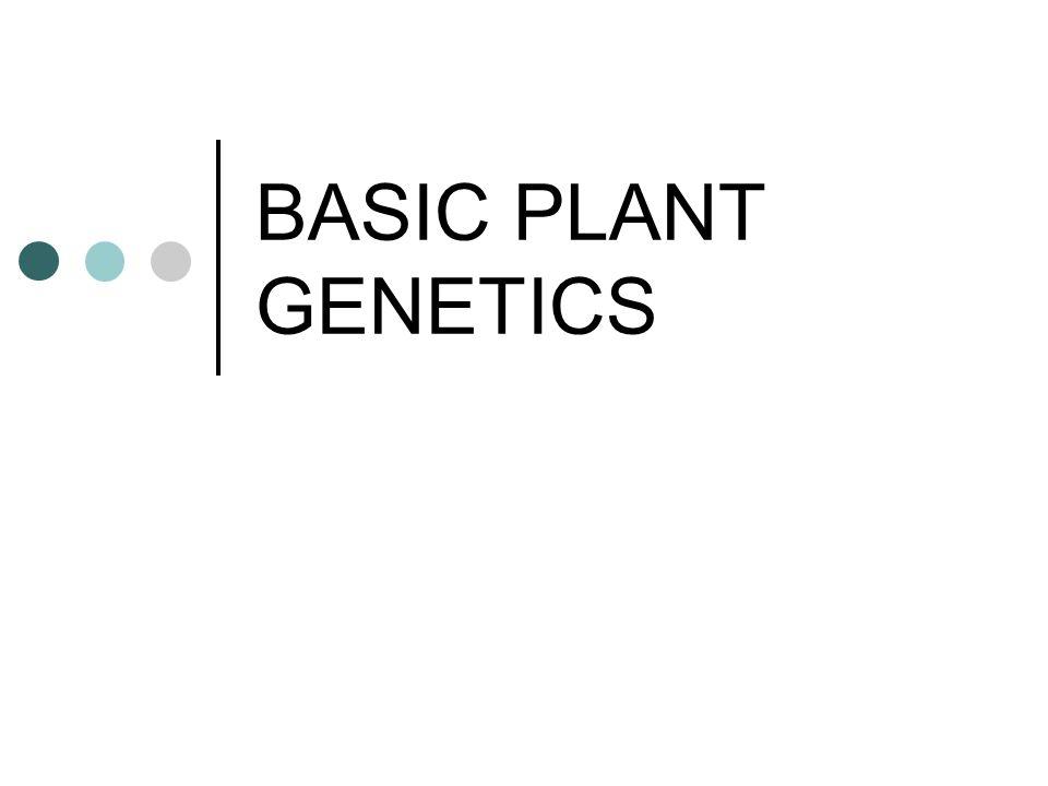BASIC PLANT GENETICS