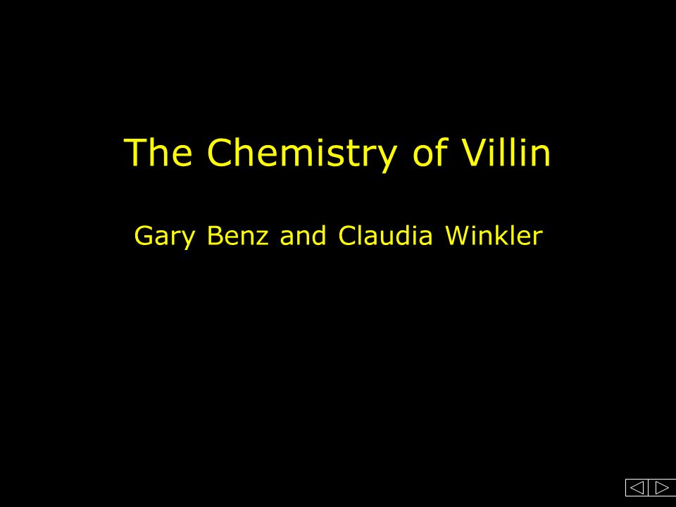 The Chemistry of Villin Gary Benz and Claudia Winkler