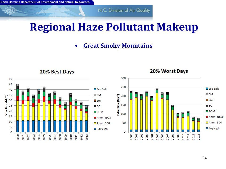 Regional Haze Pollutant Makeup Great Smoky Mountains 24