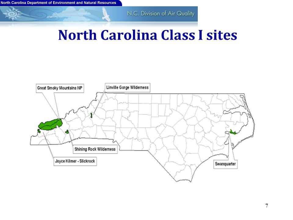 North Carolina Class I sites 7