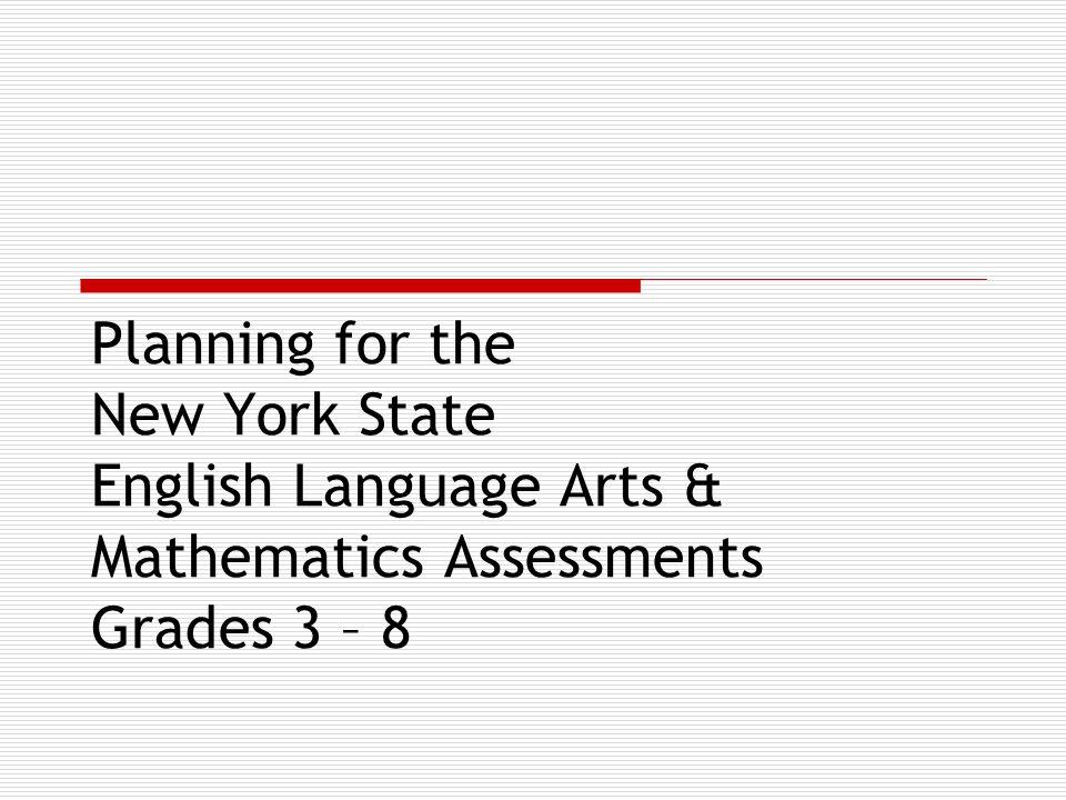 Testing Timeline 2006 English Language Arts Jan.9 – Jan.