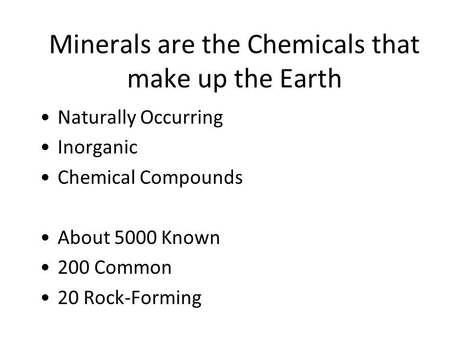 MAJOR MINERAL SUITES Elements Metallic:Au, Ag, Cu Not Al, Pb, Zn, Fe, etc.