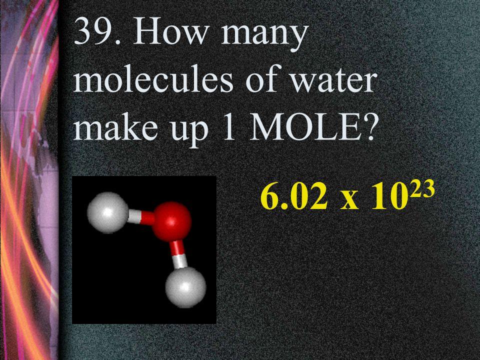 38.How many atoms of potassium make up 2 MOLES.