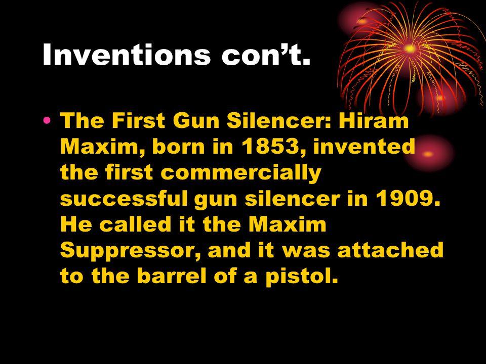 Inventions con't.
