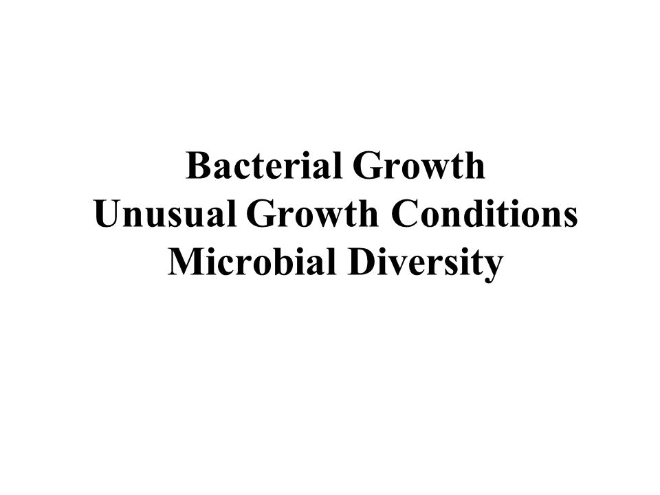 Parameters other than nutrition that affect bacterial growth 1.pH—optimum pH of most organisms is 7.0 2.Water activity—most bacteria require a water activity between 0.9 and 1.0 3.Osmolarity—The osmolarity of the bacterial cell cytoplasm must be slightly greater than that of its environment for cell growth 4.Oxygen—bacteria have a great variety of specifications with respect to the amount of oxygen they require 5.
