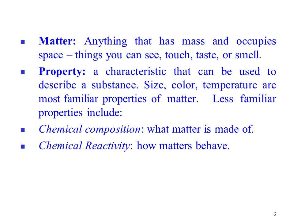14 The classification of matter is summarized in Fig 1.4 below.