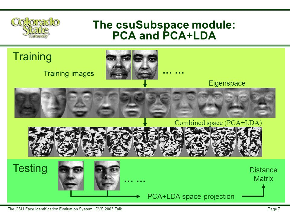 Page 18 The CSU Face Identification Evaluation System, ICVS 2003 Talk Current Research FERET Subject Covariates Covariates for 2,974 Images, 1,209 Subjects
