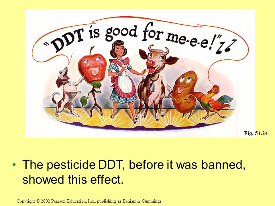 The pesticide DDT, before it was banned, showed this effect.