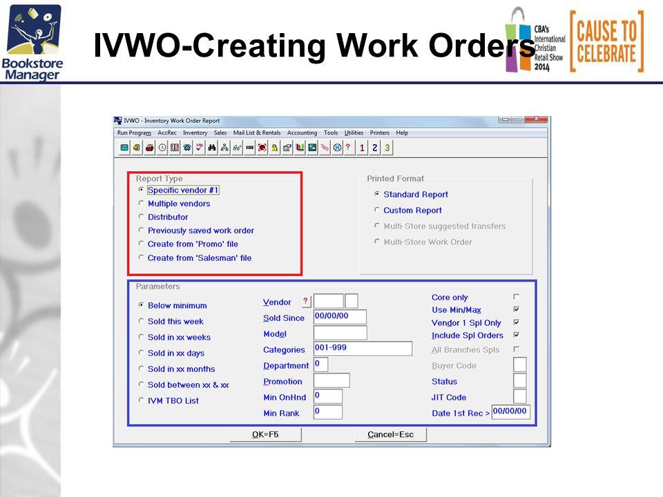 IVWO-Creating Work Orders