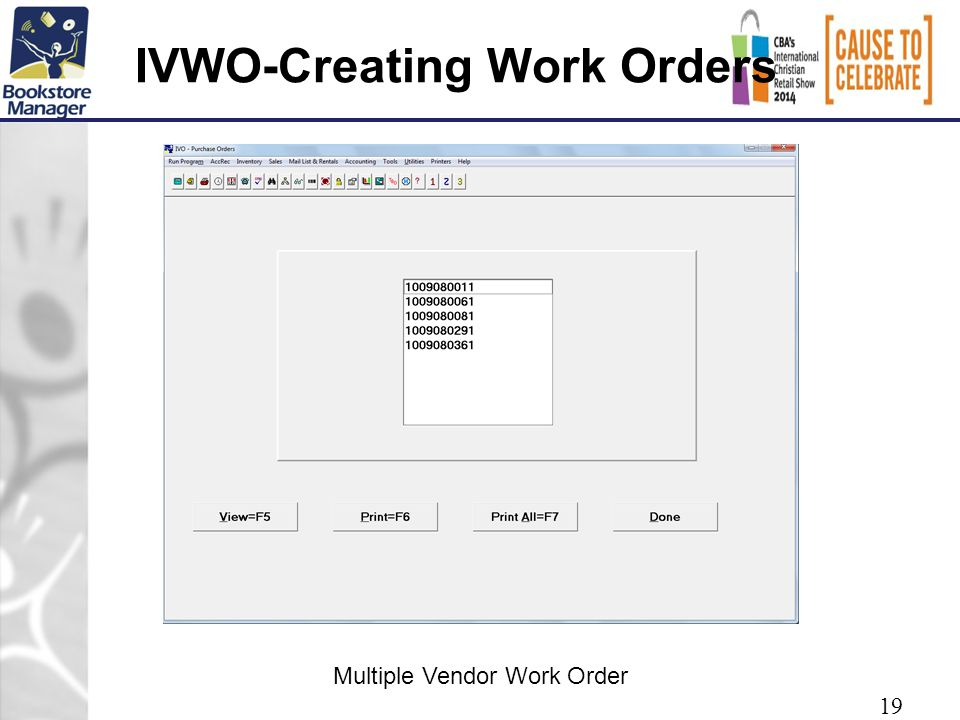 IVWO-Creating Work Orders 19 Multiple Vendor Work Order