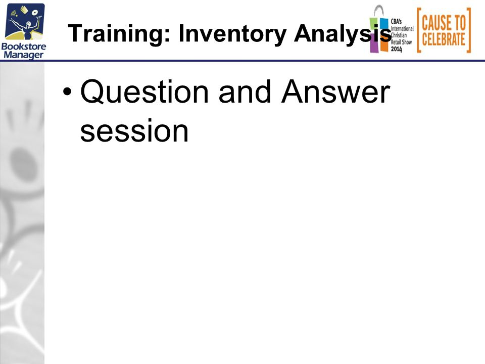Training: Inventory Analysis Question and Answer session