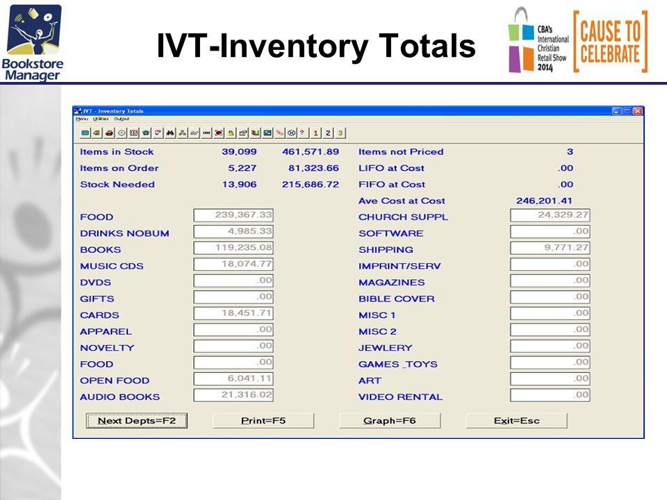 IVT-Inventory Totals