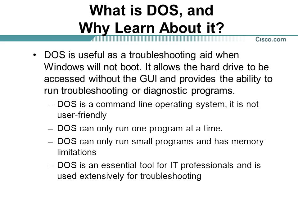 What is DOS, and Why Learn About it.