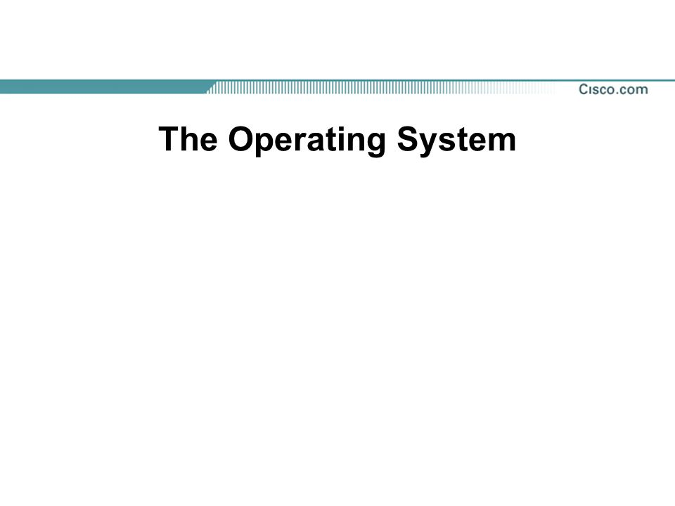 Components of an Operating System Operating Systems (OS) are software programs that control thousands of operations, provide an interface between the user and the computer, and run applications.