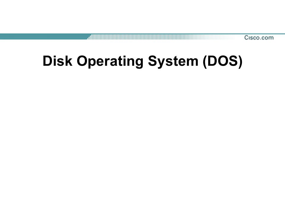 What is DOS, and Why Learn About it.Microsoft developed (DOS), in 1981.