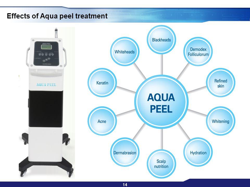 14 Effects of Aqua peel treatment