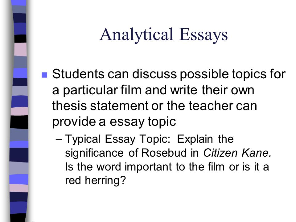 Sample Assignments Personal Essays n Write a letter to the director or writer of the film.