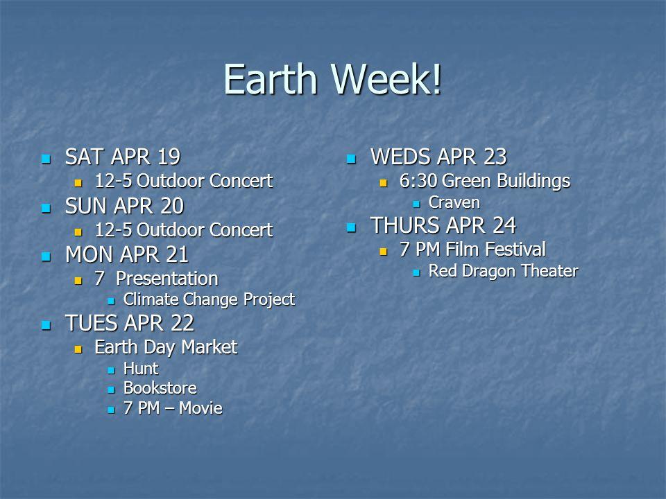 Earth Week.