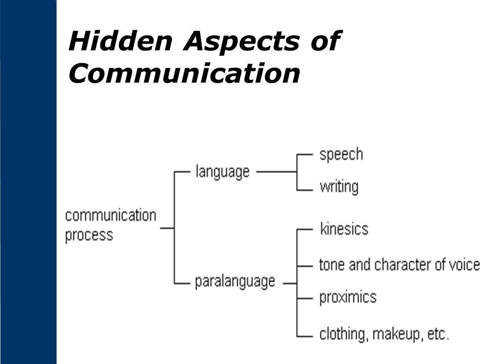 Hidden Aspects of Communication