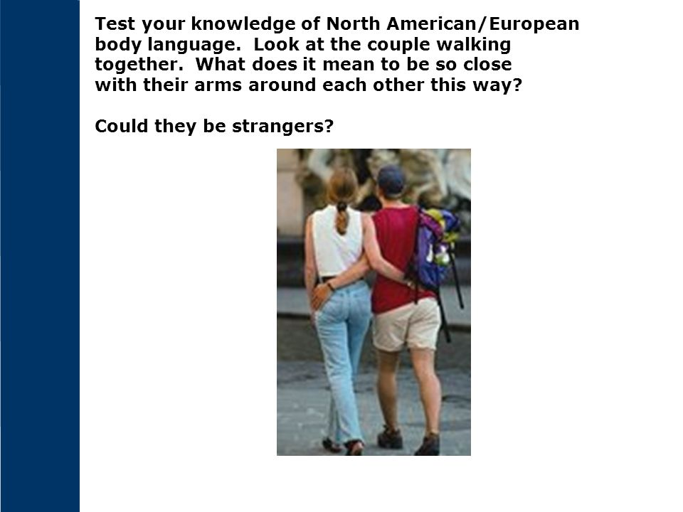 Test your knowledge of North American/European body language.