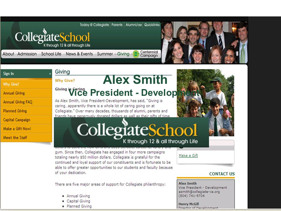 Alex Smith Vice President - Development