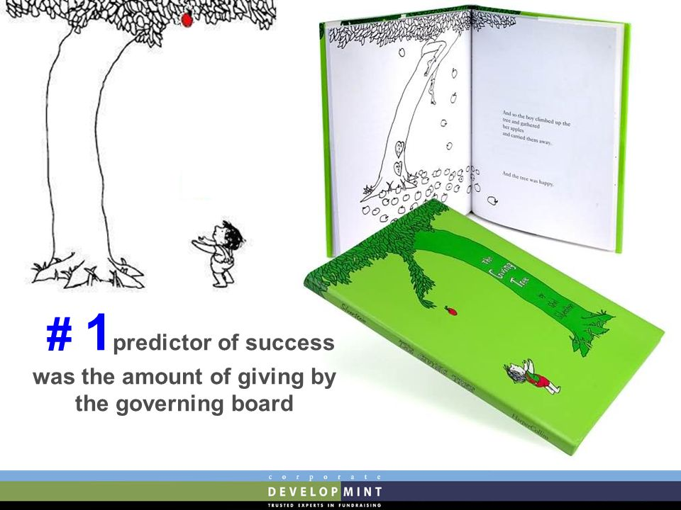 # 1 predictor of success was the amount of giving by the governing board