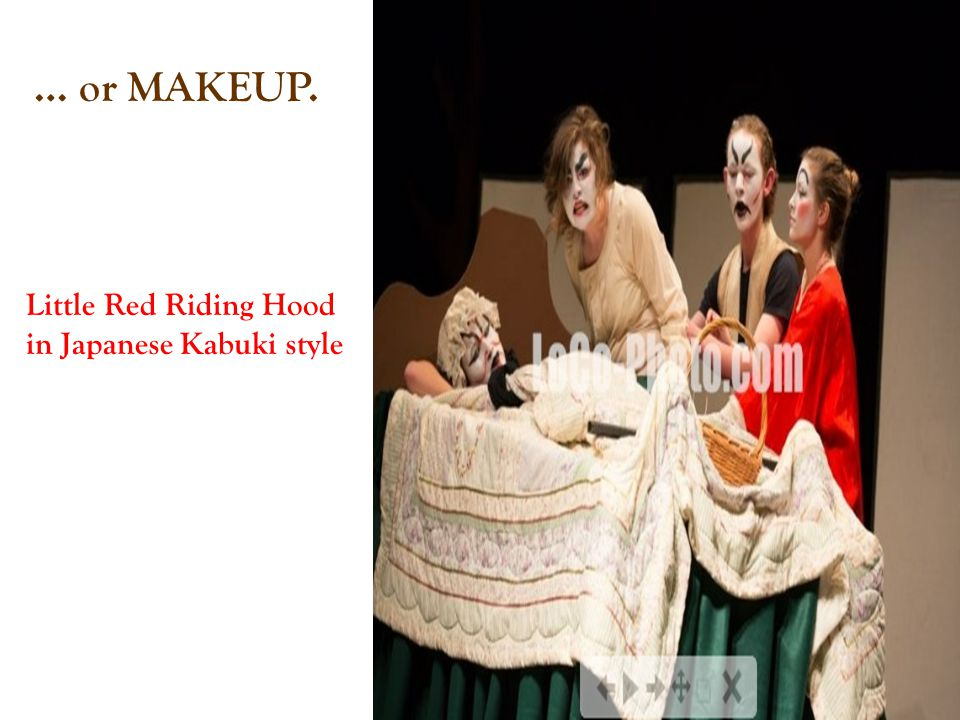 … or MAKEUP. Little Red Riding Hood in Japanese Kabuki style