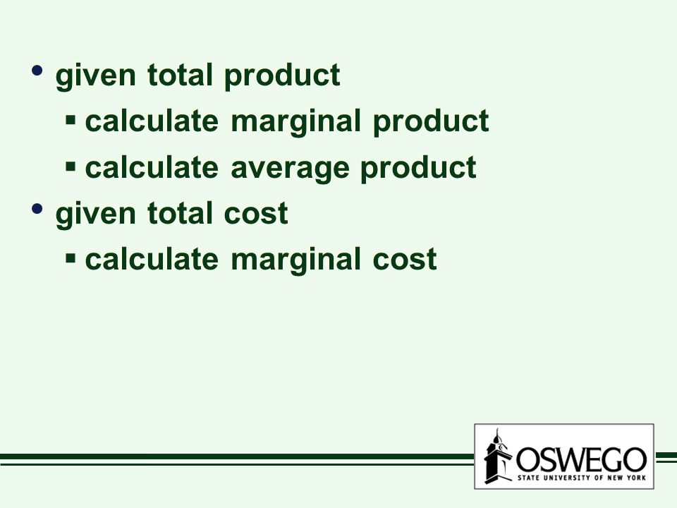 given total product  calculate marginal product  calculate average product given total cost  calculate marginal cost given total product  calculate marginal product  calculate average product given total cost  calculate marginal cost