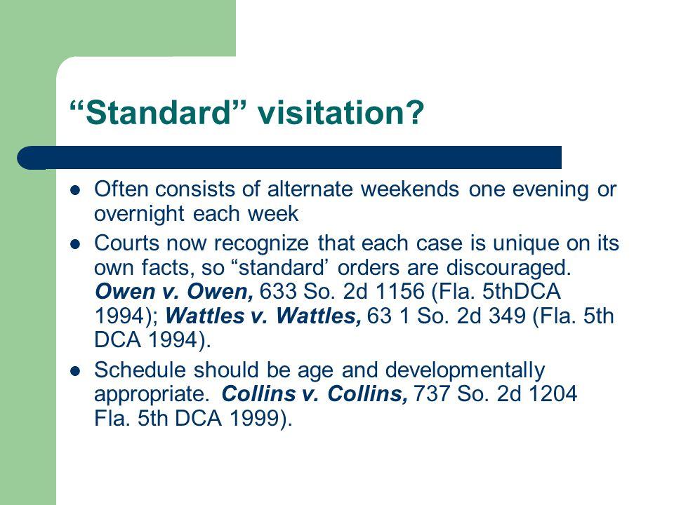 Restrictions on Court Discretion Fla.