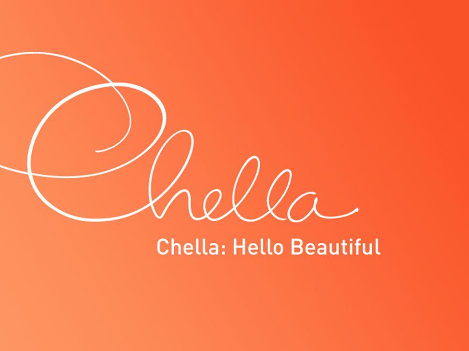 Chella Skin Care Tester Display Chella: Hello Beautiful