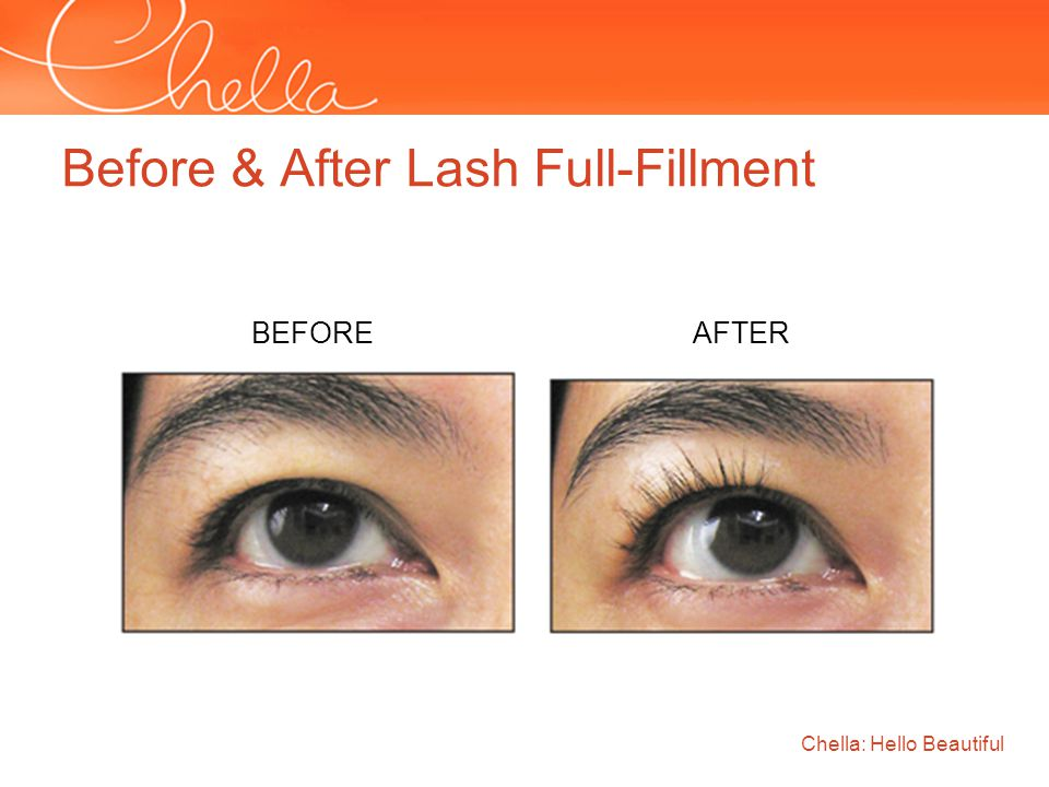 Before & After Lash Full-Fillment Chella: Hello Beautiful BEFORE AFTER