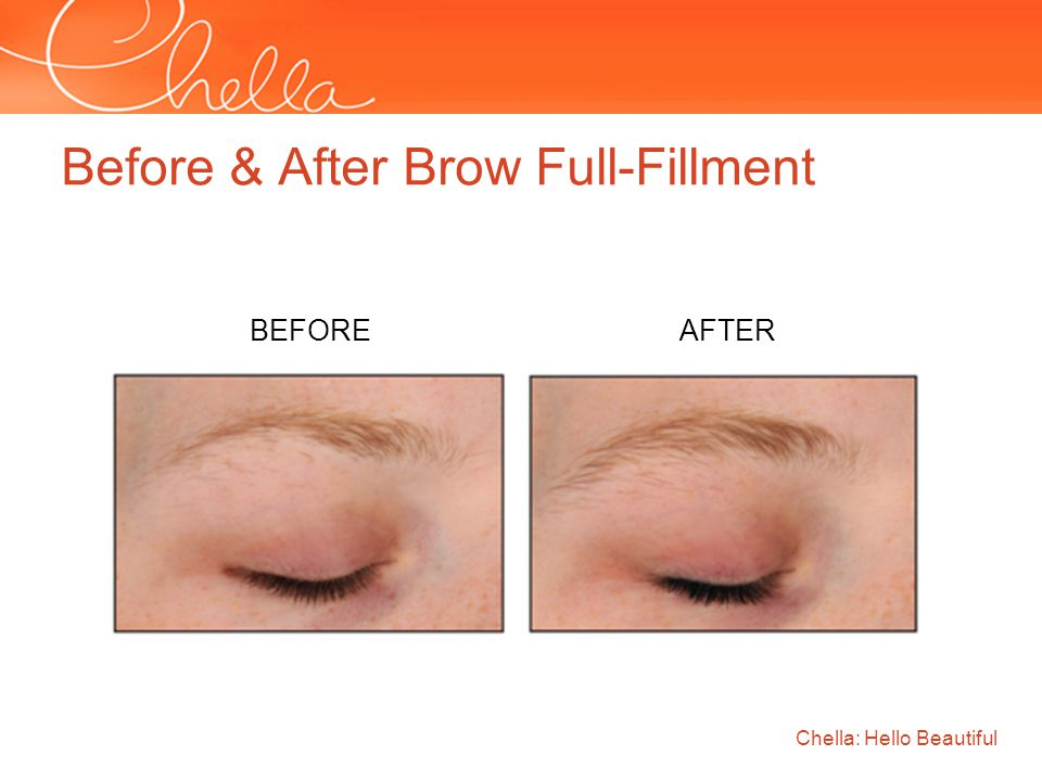 Before & After Brow Full-Fillment Chella: Hello Beautiful BEFORE AFTER