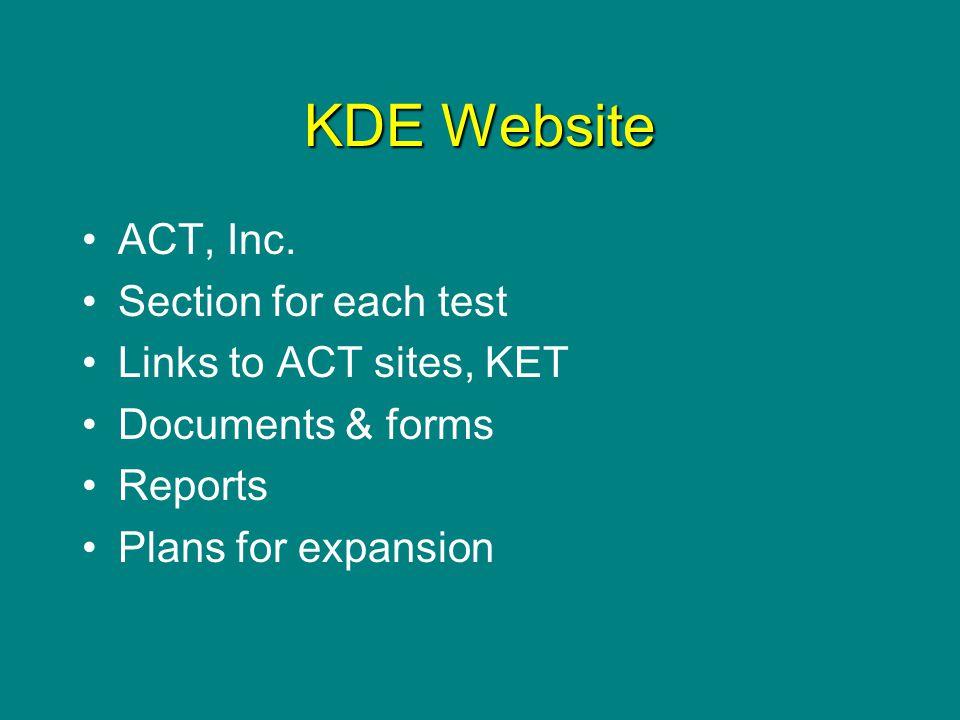 KDE Website ACT, Inc.