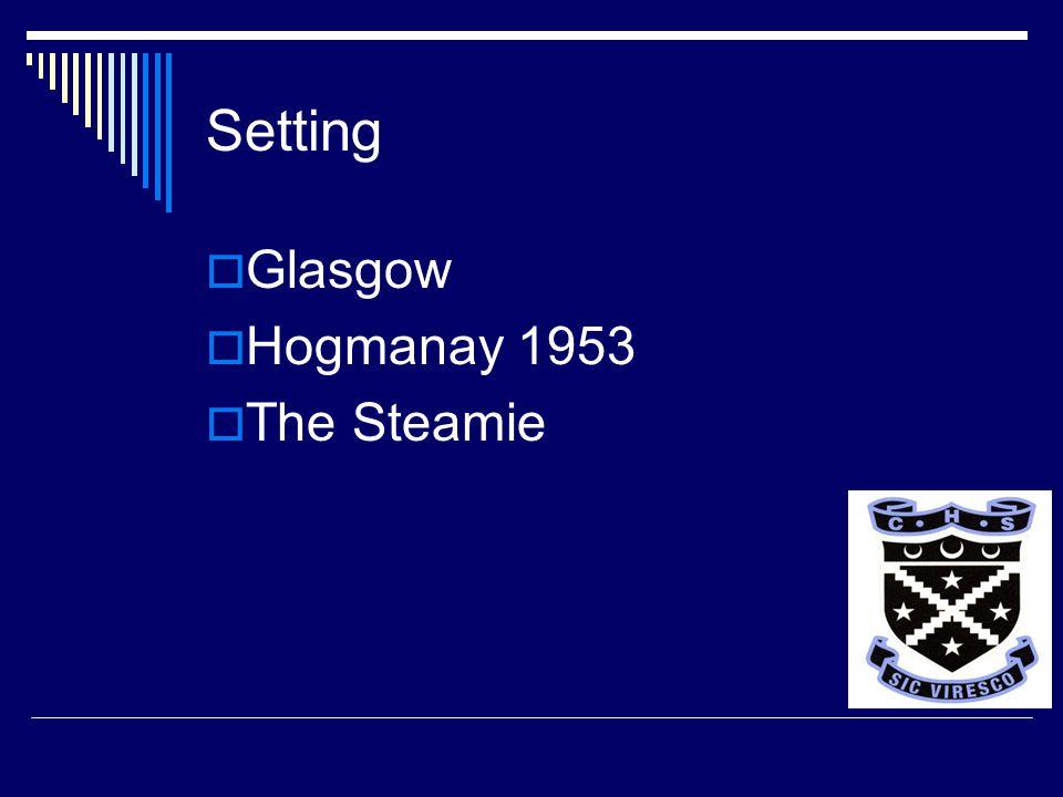 Setting  Glasgow  Hogmanay 1953  The Steamie