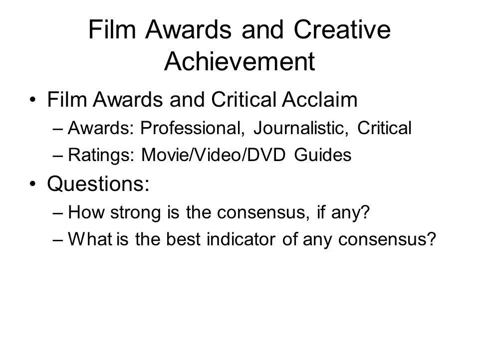 Film as Art versus Film as Business Study 1: Economic Attributes Study 2: Screenplay Traits
