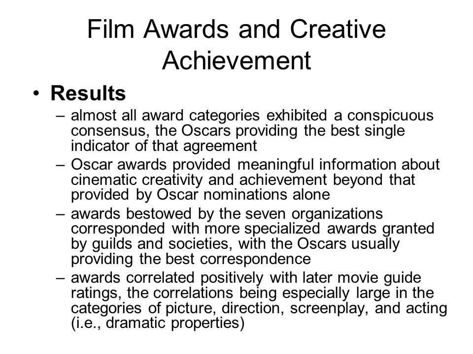Great Films versus Bad Films Are negative assessments just the inverse of positive assessments.