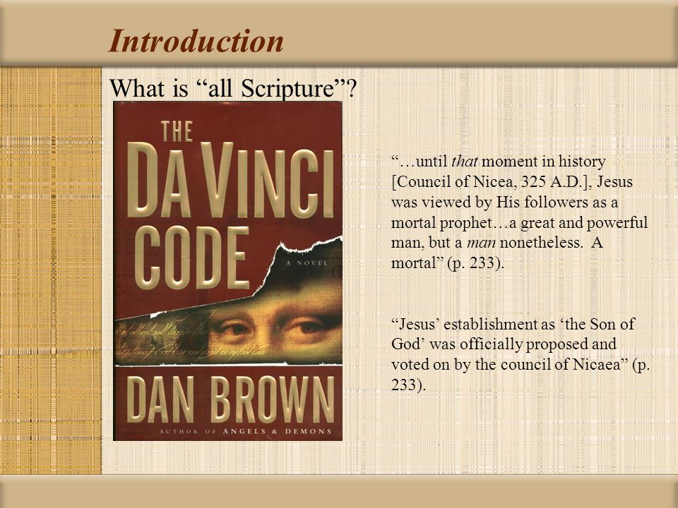 Introduction What is all Scripture .