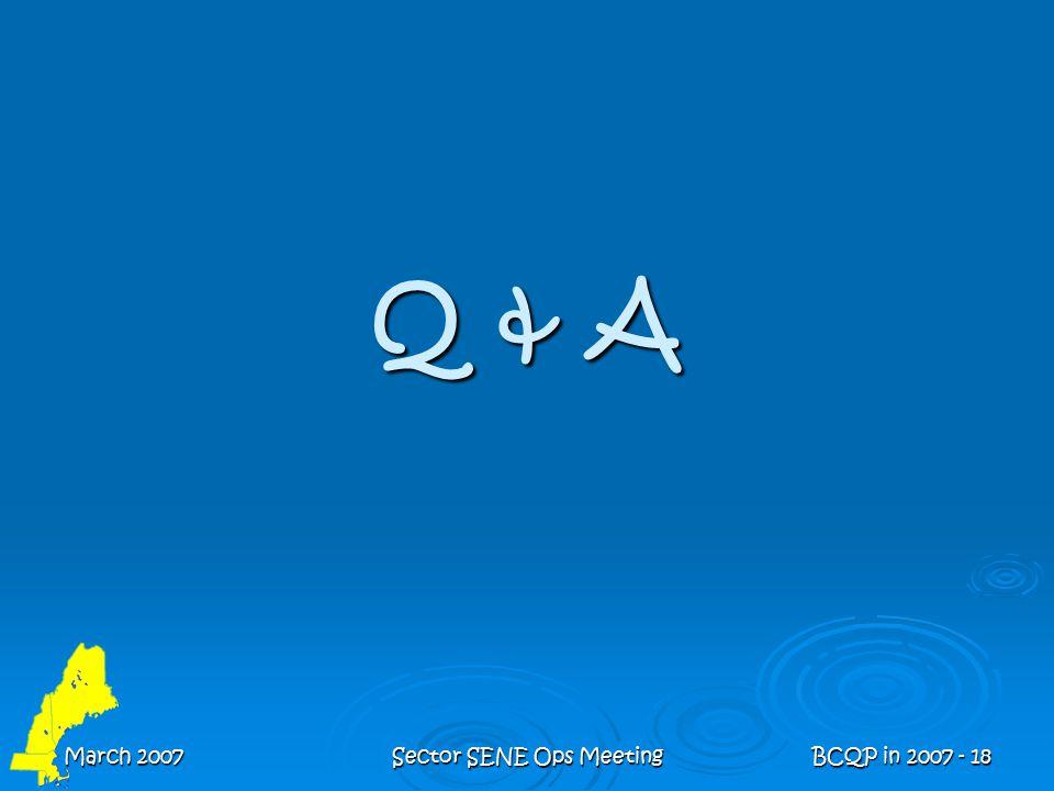 March 2007Sector SENE Ops MeetingBCQP in 2007 - 18 Q & A