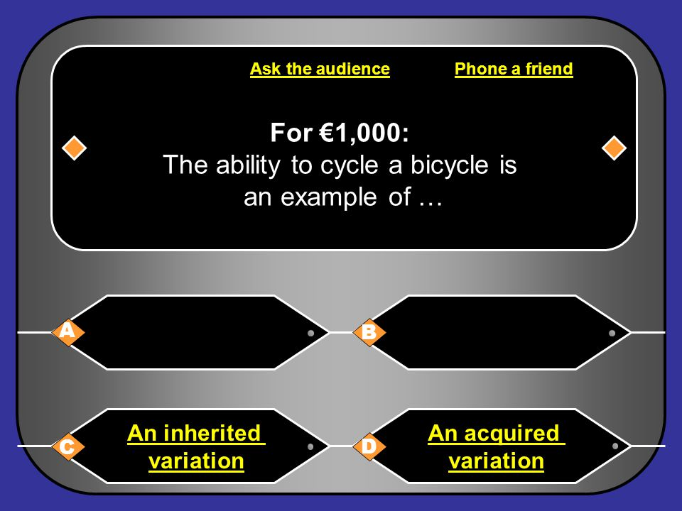 Congratulations D: An acquired variation Congratulations 30-Apr-15 The Contestant € 1,000.00 One thousand euro only Next Question
