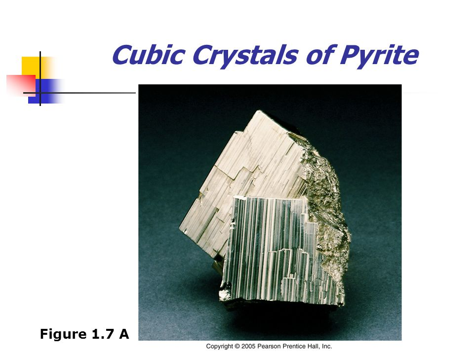 Cubic Crystals of Pyrite Figure 1.7 A