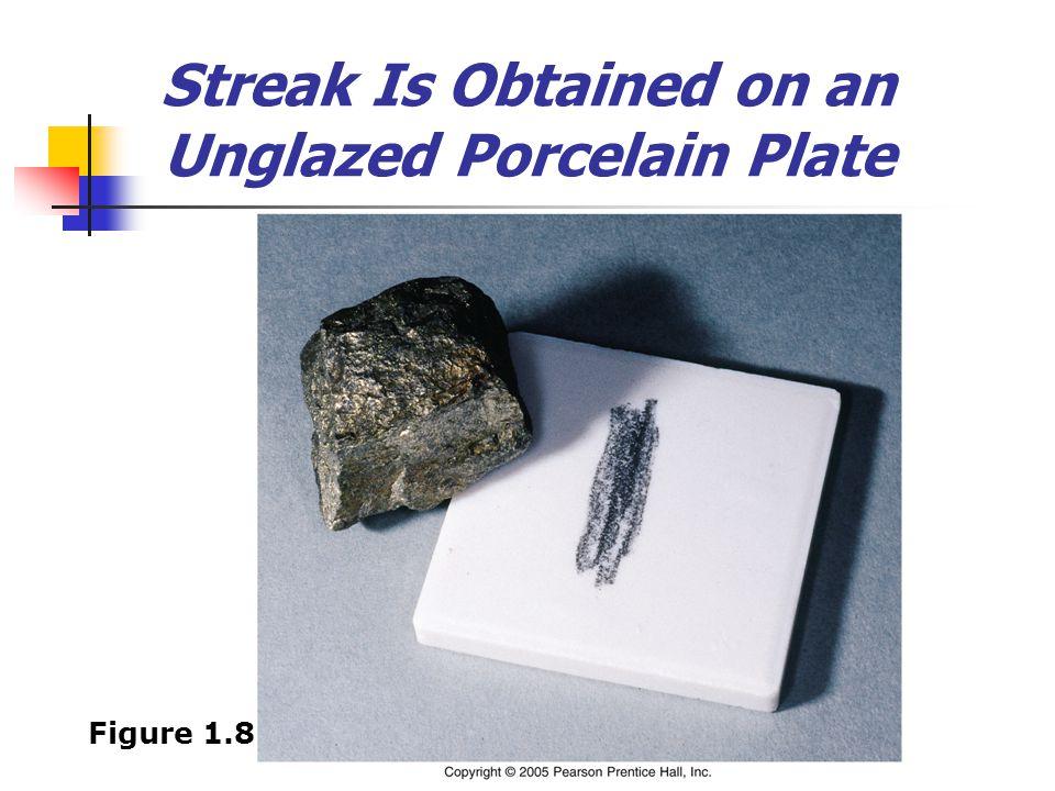 Streak Is Obtained on an Unglazed Porcelain Plate Figure 1.8
