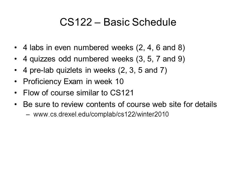 What's New in CS122.