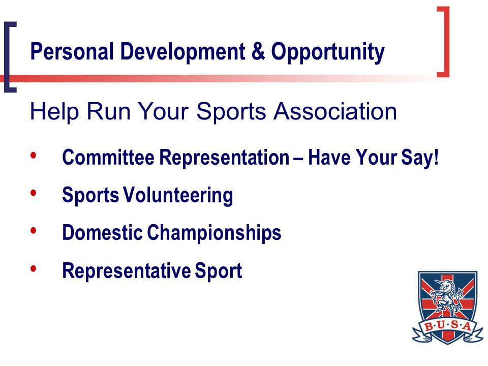 Divisional Elections Divisional Chair Divisional Secretary Executive Board Representative International Sports Committee Personal Development & Opportunity BUSA Committees – Your Division