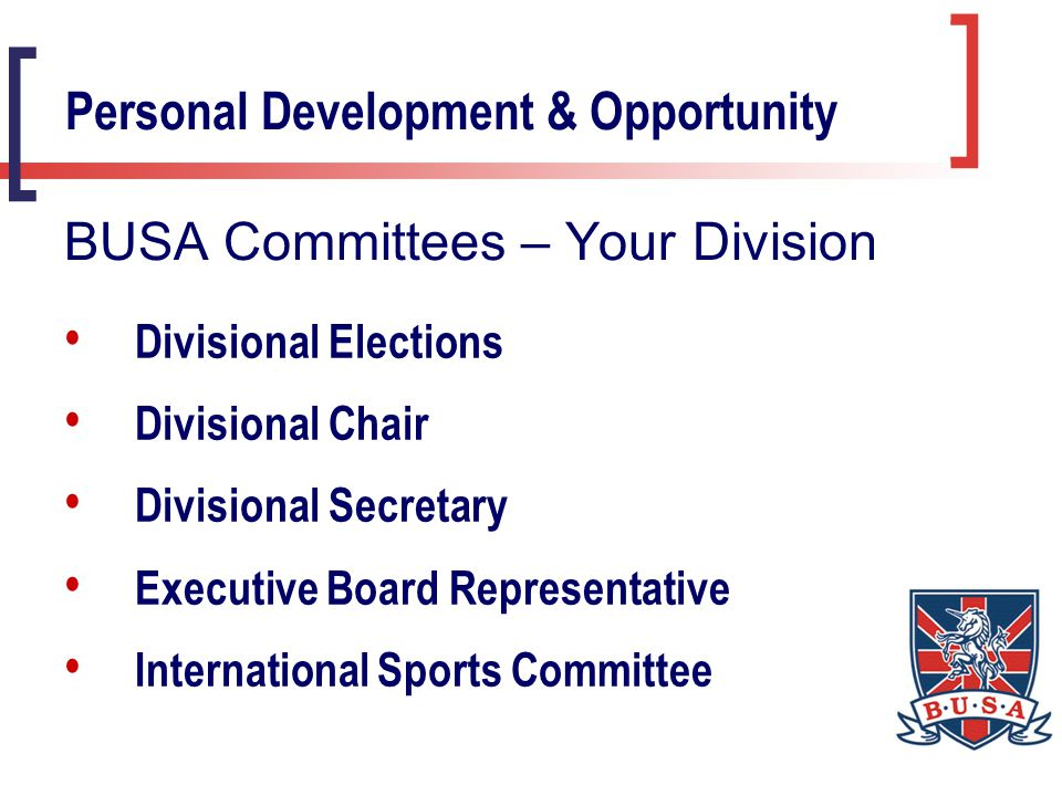 Development Issues Managing Links with NGB's Representative Teams, Fixtures & Tours Budgets Technical Advice Personal Development & Opportunity Sports Management Groups