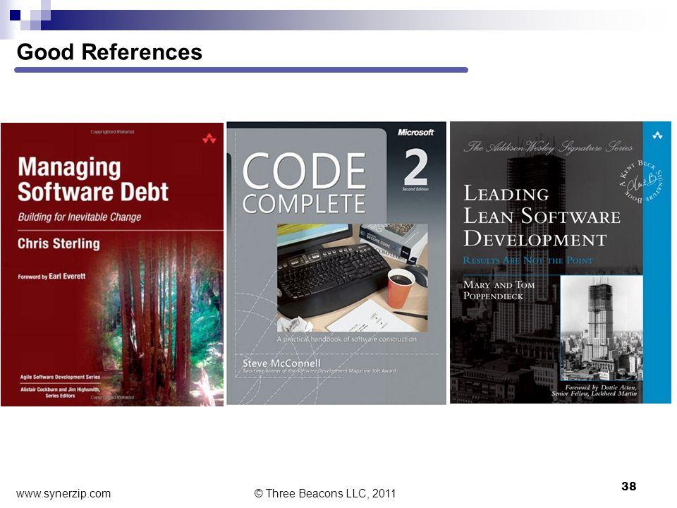 Good References 38 © Three Beacons LLC, 2011 www.synerzip.com